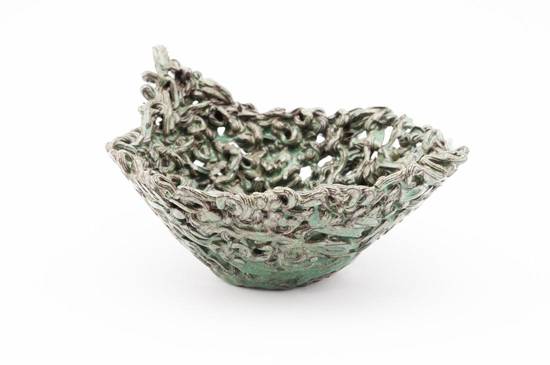 ceramica lavorazione riccio verde