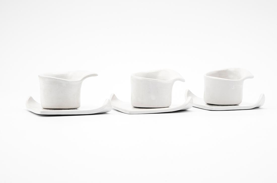 tazzine ceramica bianca