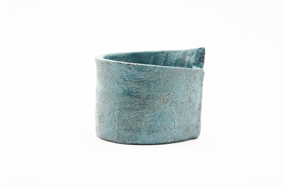 vaso contenitore azzurro
